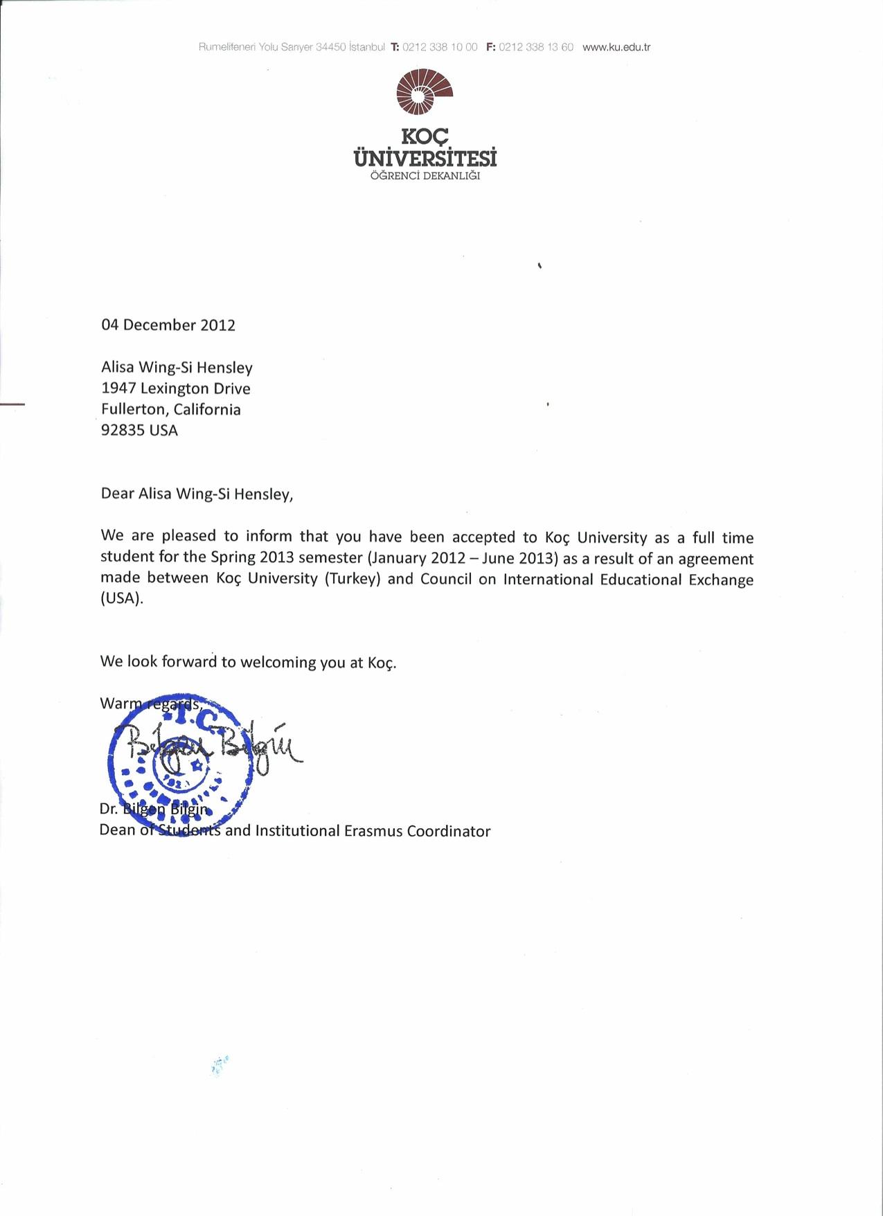 100 12 Acceptance Letter Templates U2013